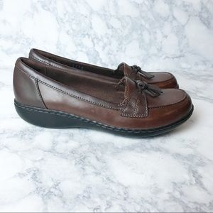 Clarks Cushion Comfort Leather Loafers
